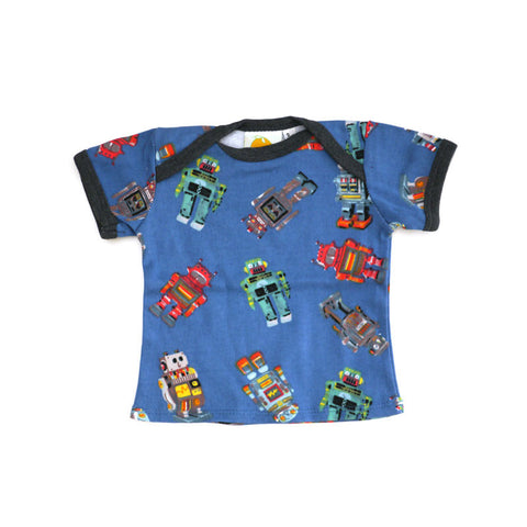 Robot Short Sleeve Lap Tee tops Kumquat