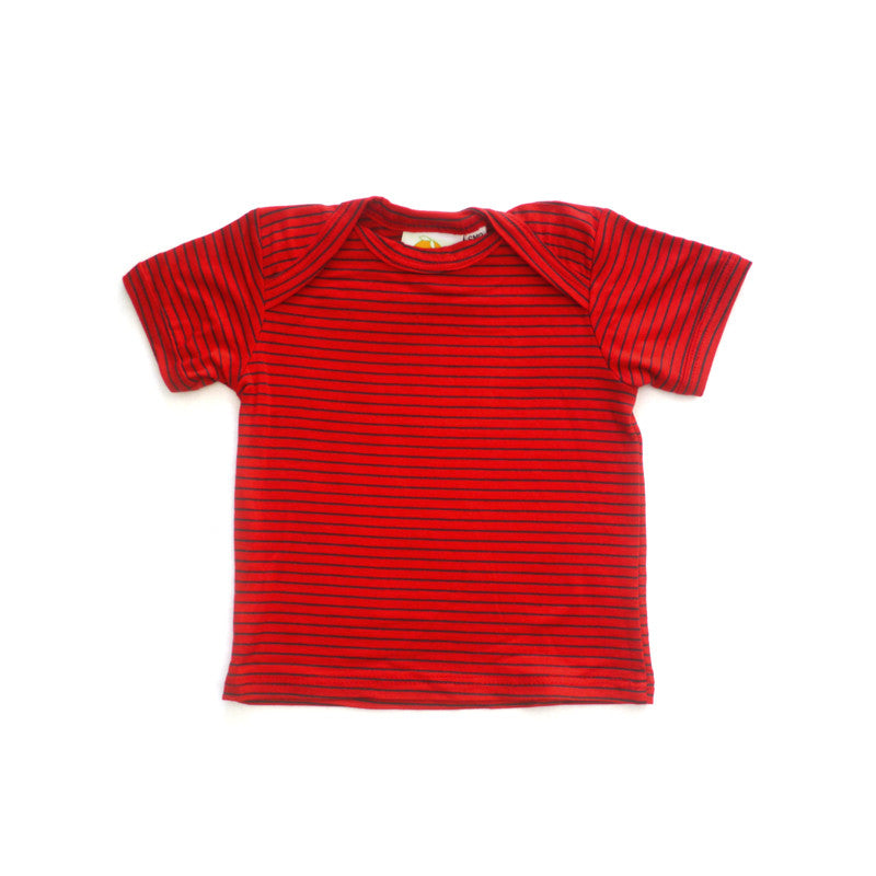 Royal Stripe Short Sleeve Lap Tee tops Kumquat