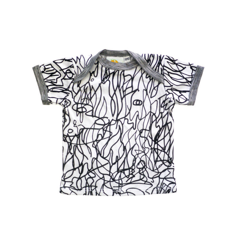 Scribble Short Sleeve Lap Tee tops Kumquat