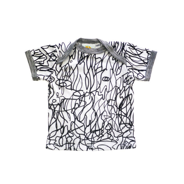 Scribble Short Sleeve Lap Tee