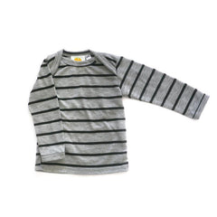 Grey Wide Stripe Long Sleeve Tee