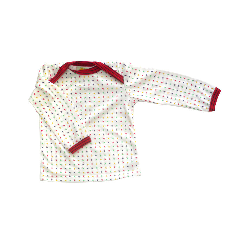 Lollipop Dot Long Sleeve Lap Tee tops Kumquat