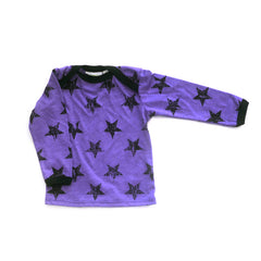 Purple Stars Long Sleeve Lap Tee tops Kumquat