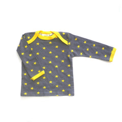 Yellow Stars Long Sleeve Lap Tee tops Kumquat