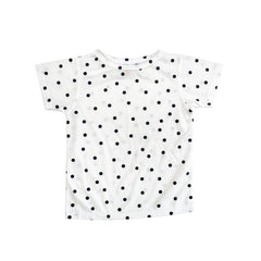Black Dot Short Sleeve Crew Neck Tee