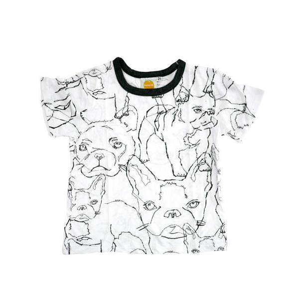 Frenchie Short Sleeve Crew Neck Tee