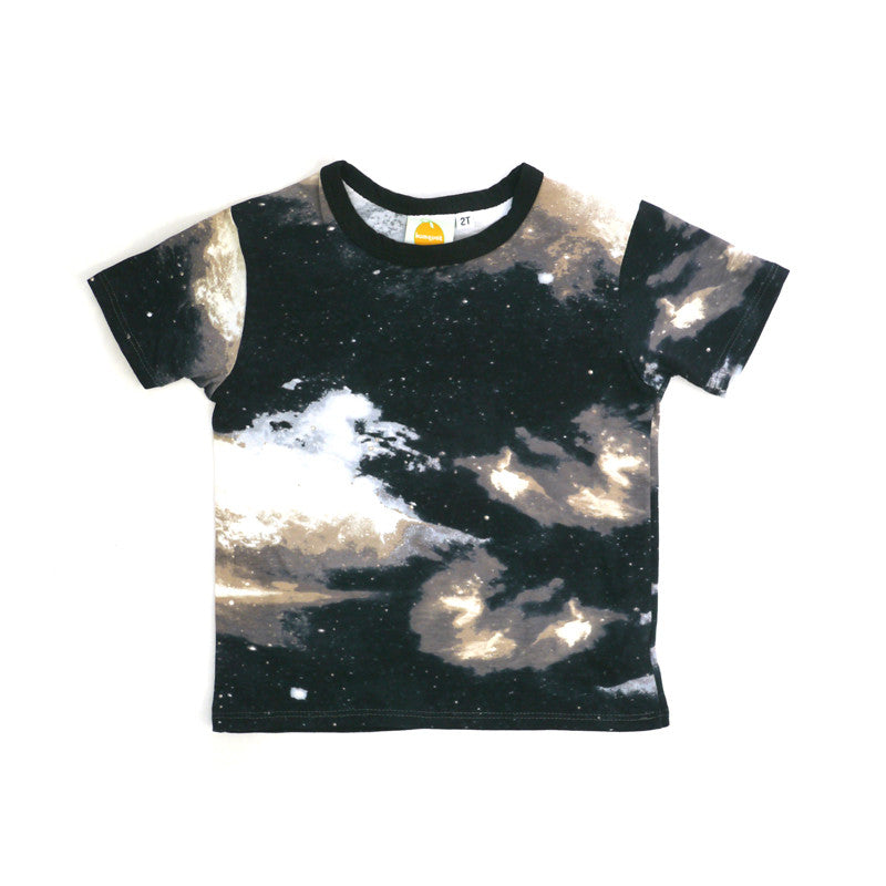 Galaxy Short Sleeve Crew Neck Tee tops Kumquat