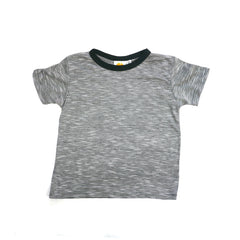 Mini Stripe Short Sleeve Crew Neck Tee tops Kumquat