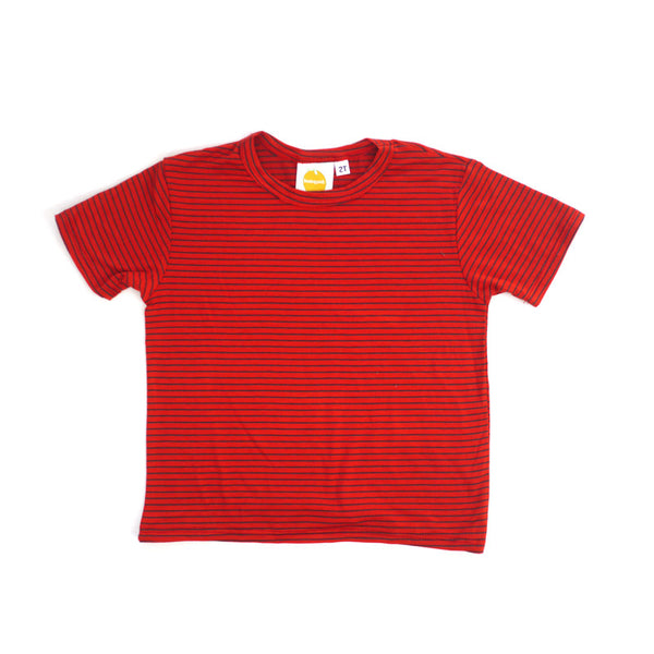 Royal Stripe Short Sleeve Crew Neck Tee