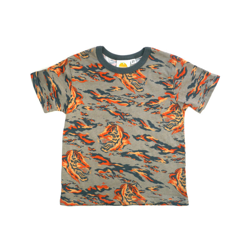 Tiger Short Sleeve Crew Neck Tee tops Kumquat