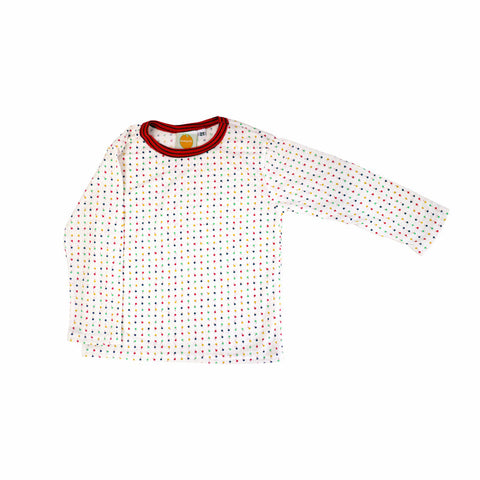 Lollipop Dot Long Sleeve Tee tops Kumquat