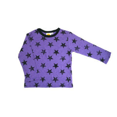 Purple Stars Long Sleeve Tee