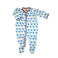 Blue Chicks Footie footies Kumquat - 1