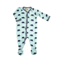 Navy Elephants Footie footies Kumquat