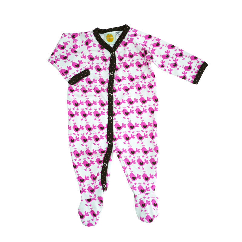 Pink Chicks Footie footies Kumquat