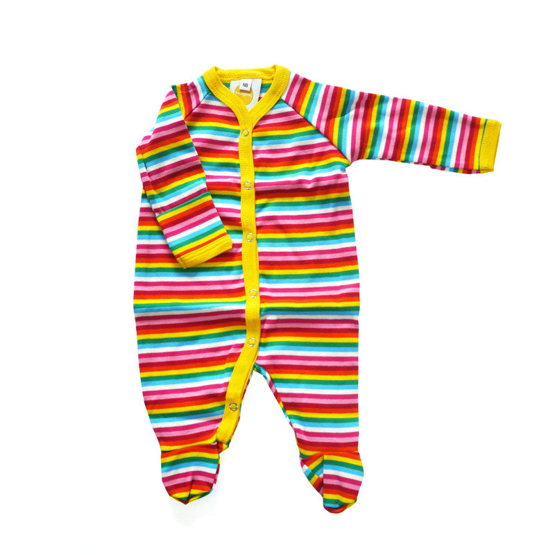 Rainbow Stripe Footie