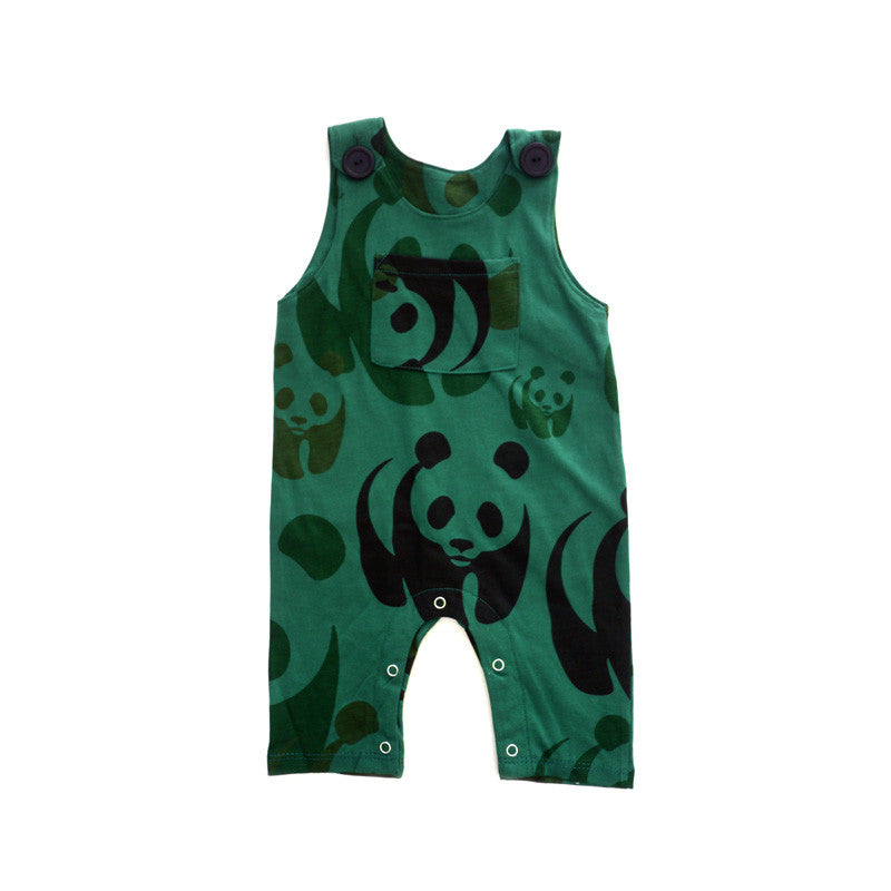 Green Panda Overall Jumper jumpers Kumquat