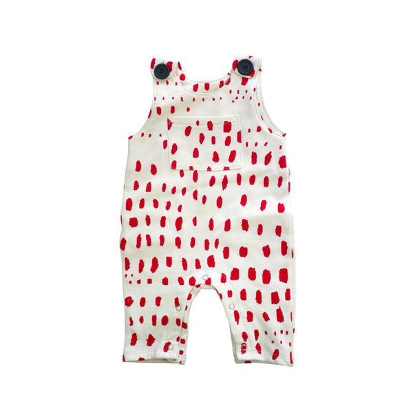 Red Patch Overall Jumper