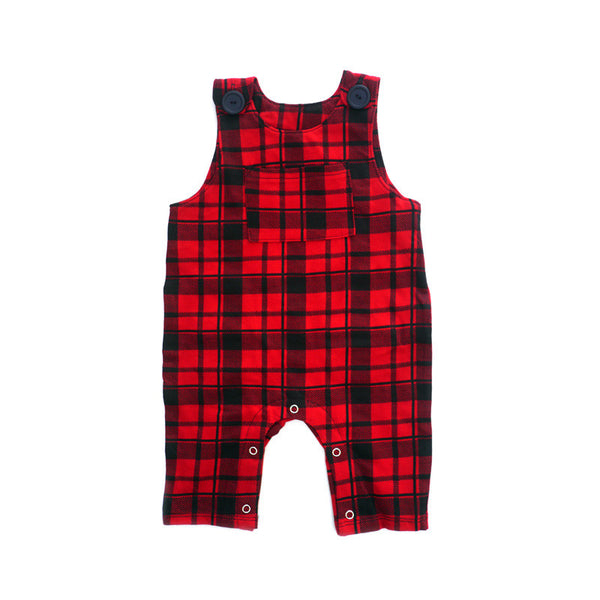 Red Plaid Overall Jumper