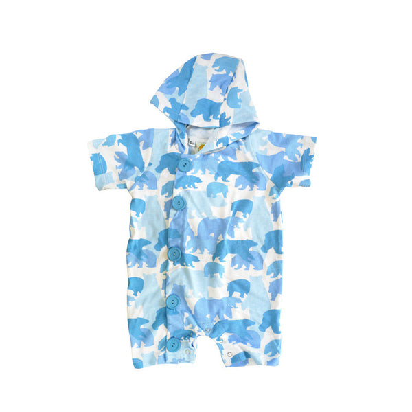 Bear Camo Hooded Shortall