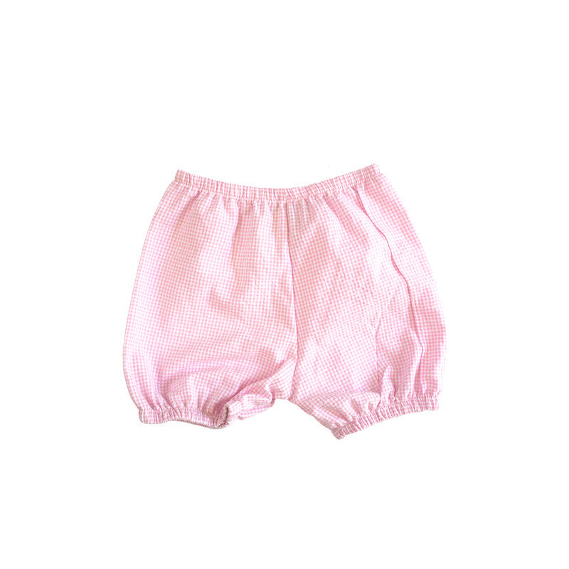 Pink Seersucker Bloomer Shorties bottoms Kumquat