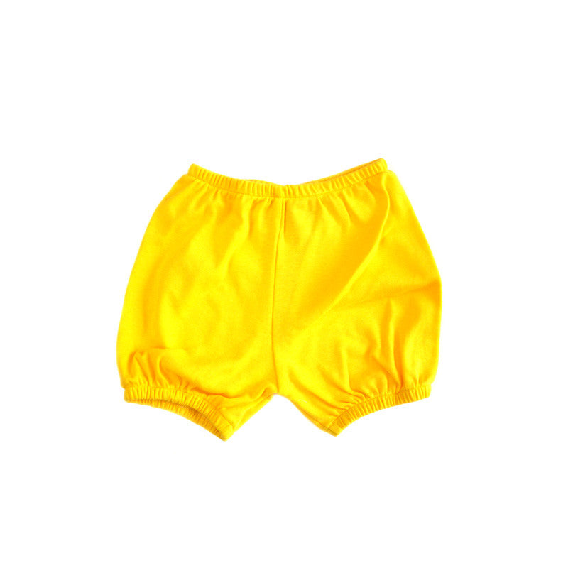 Yellow Baby Rib Bloomer Shorties bottoms Kumquat