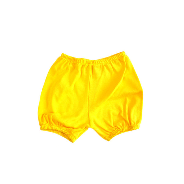 Yellow Baby Rib Bloomer Shorties
