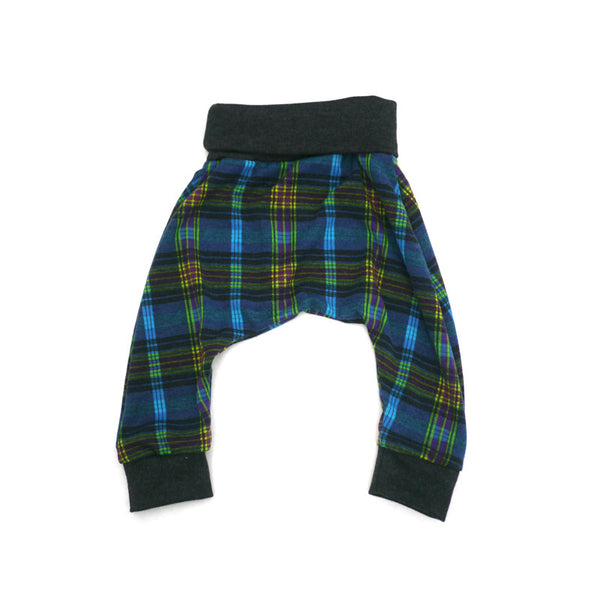 Blue Plaid Harem Pant
