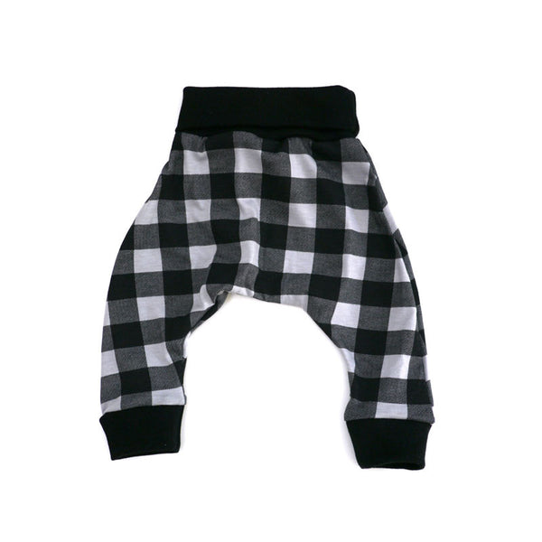 Grey Buffalo Check Harem Pant