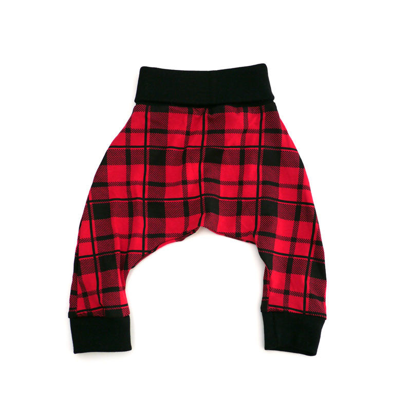 Red Plaid Harem Pant bottoms Kumquat - 1