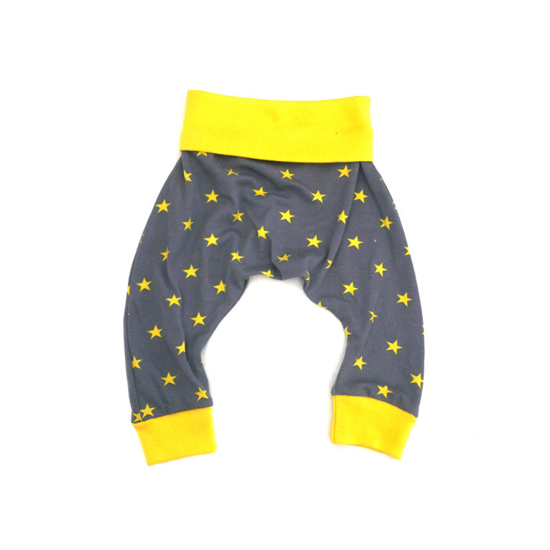 Yellow Stars Harem Pant bottoms Kumquat