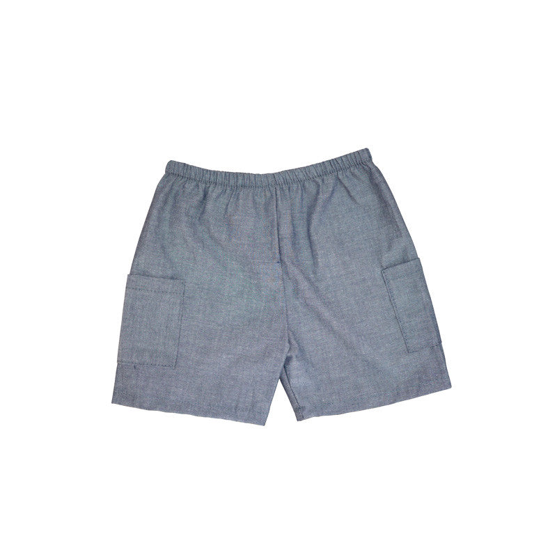 Chambray Cargo Short bottoms Kumquat