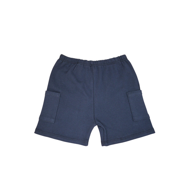 Navy Cargo Short bottoms Kumquat