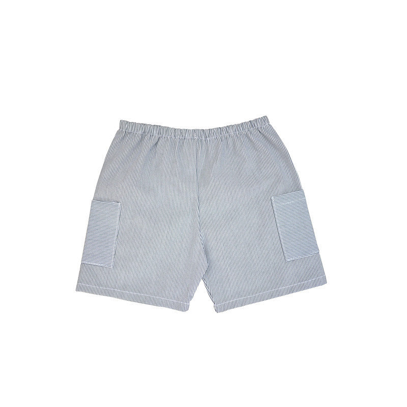 Black Stripe Cargo Short bottoms Kumquat