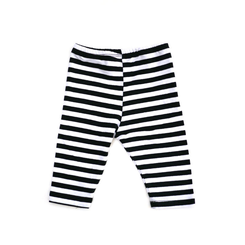 Black White Wide Stripe Legging bottoms Kumquat