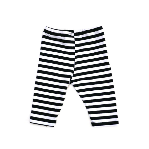 Black White Wide Stripe Legging