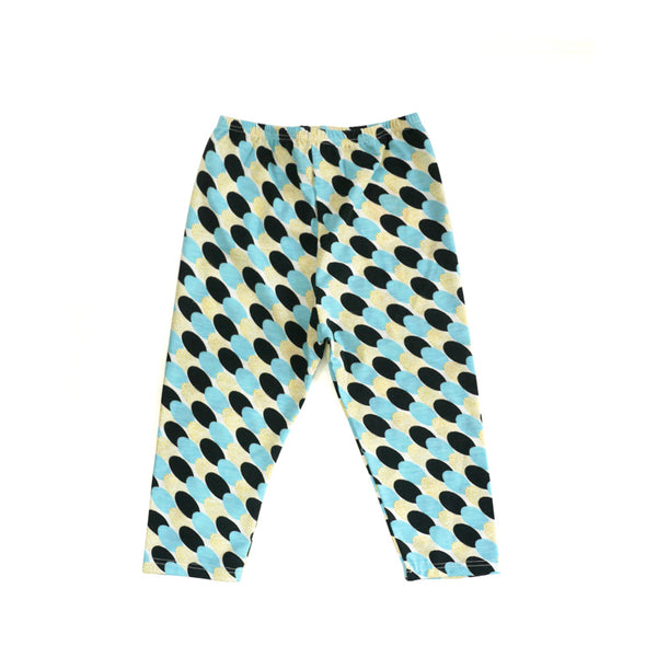 Blue Gold Thumbprint Legging