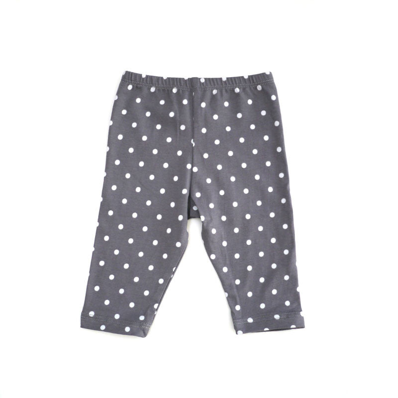 Grey Dot Legging bottoms Kumquat