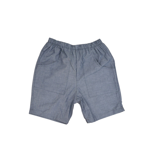 Chambray Front Pocket Short