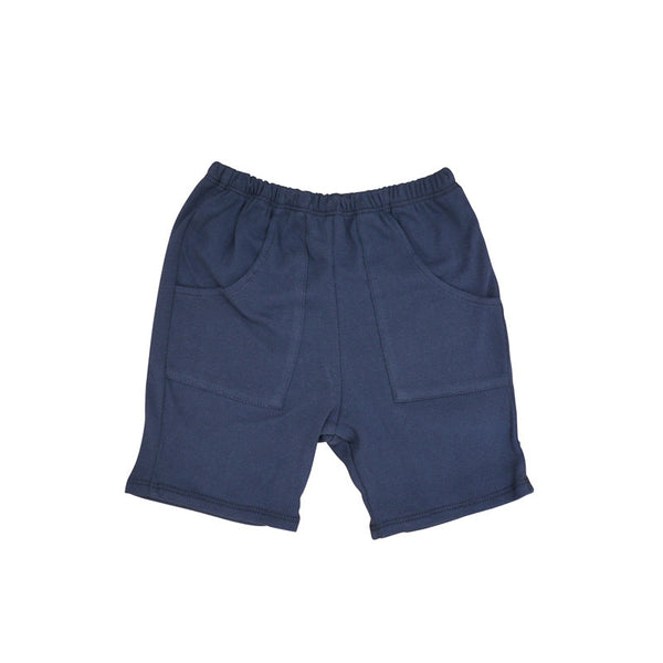 Navy Front Pocket Short