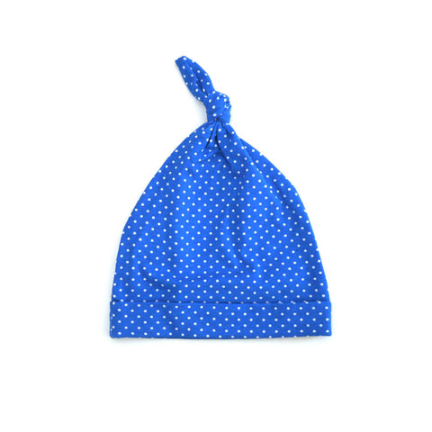 Blue Dot Tie Beanie accessories Kumquat