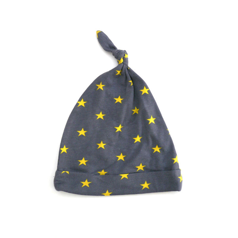 Yellow Stars Tie Beanie accessories Kumquat
