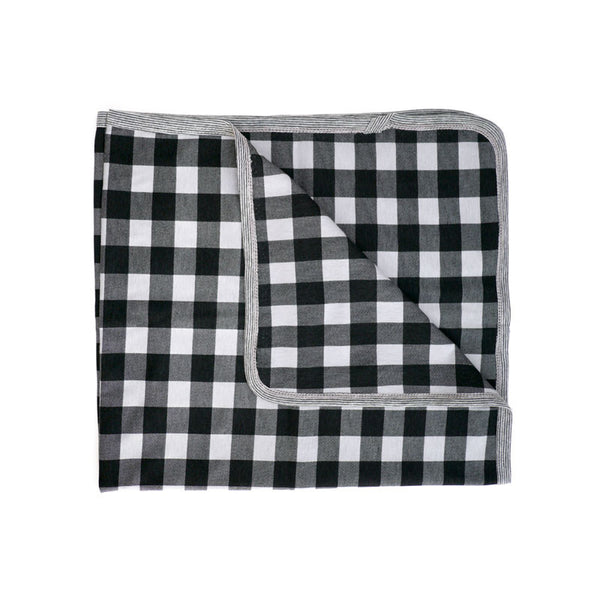 Grey Buffalo Check Blanket
