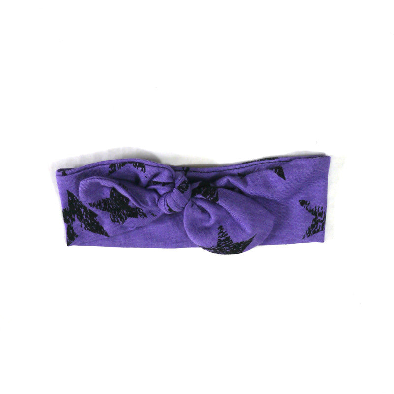 Purple Star Tie Knot Headband