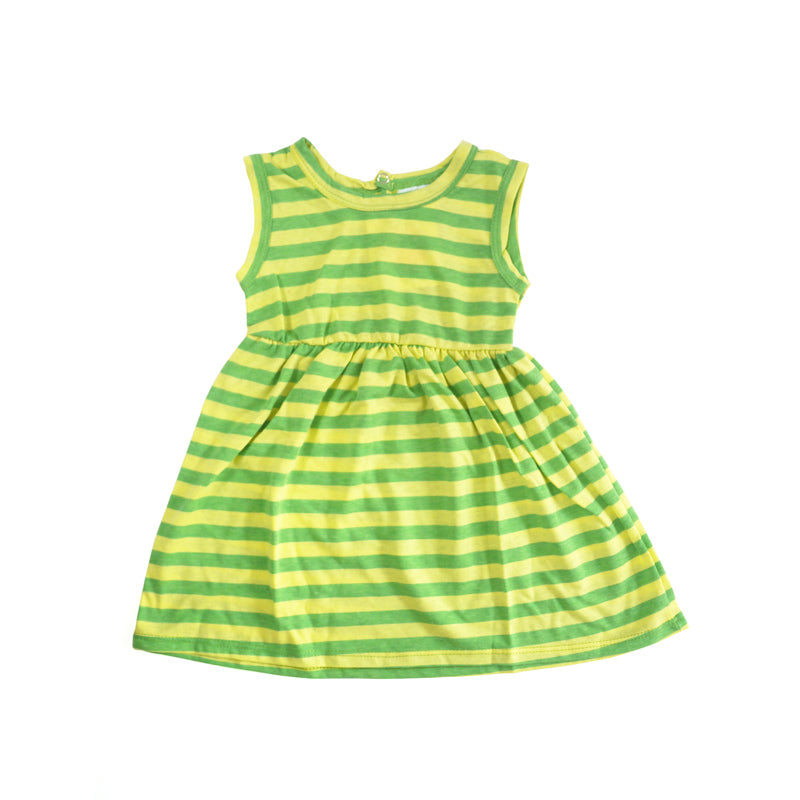 Lemon Lime Stripe Tank Dress