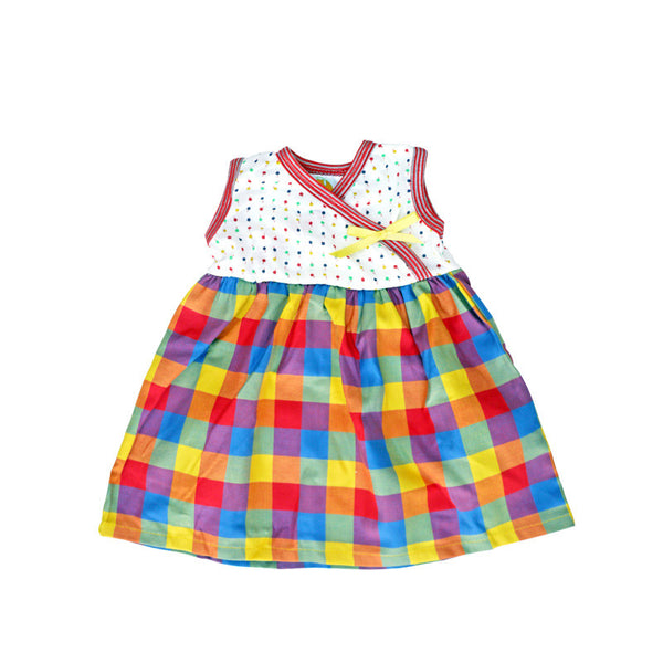 Lollipop Dot Plaid Sleeveless Kimono Dress