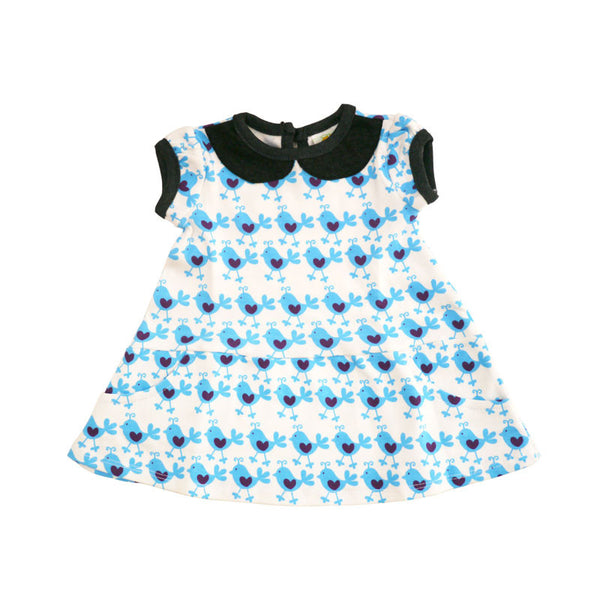 Blue Chicks Peter Pan Collar Dress