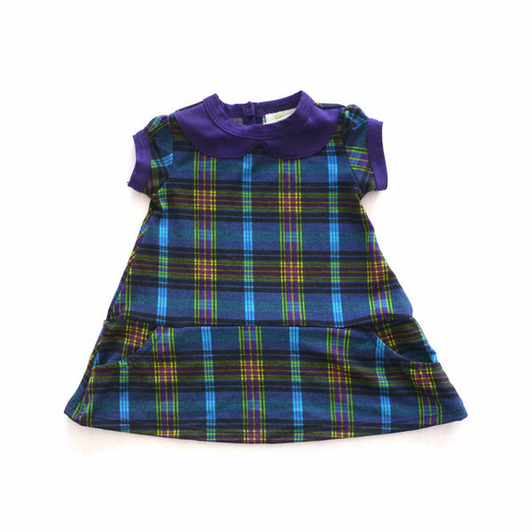 Blue Plaid Peter Pan Collar Dress