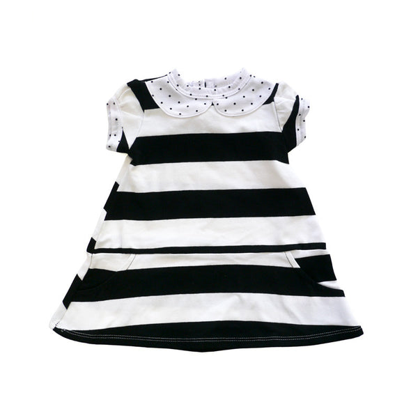 Parisian Stripe Peter Pan Collar Dress