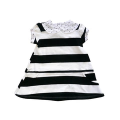 Parisian Stripe Peter Pan Collar Dress dresses Kumquat